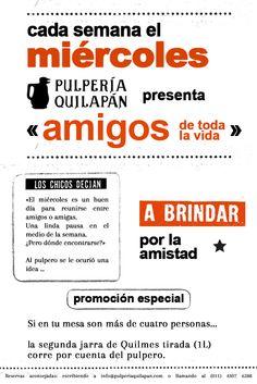 ¡A brindar por la amistad en la Pulpería! y viene con promo http://pulperiaquilapan.com/event/amigos-de-toda-la-vida/?instance_id=4748655