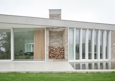 Brick and concrete bungalow referencing countryside cottages