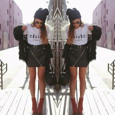 Top, Unif Carnaby Skirt, Dolce Vita Jemma Boots, Luna B Fringe Cape