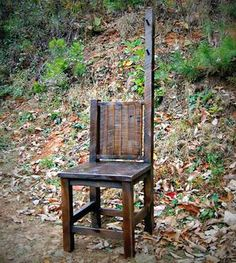 Reclaimed Wood Dressing Chair