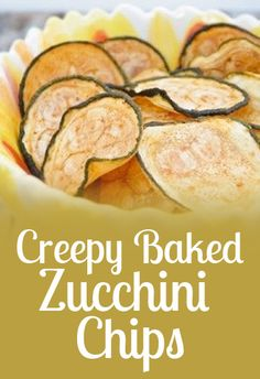 Creepy Baked Zucchini Chips by Ideal Protein Diet