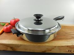 "West Bend Permanent Multicore 5 Ply Stainless Cookware - 10"" Fry Pan Skillet with Lid"