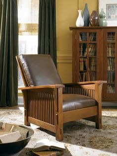 Spindle Morris chair by Stickley