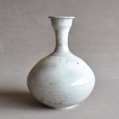 Joseon White Porcelain Flask Vase