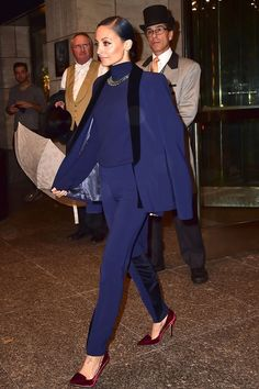 With hair like that, head-to-toe jewel tones become a lot easier to pull off. #refinery29 http://www.refinery29.com/2016/01/101520/nicole-richie-style-outfit-pictures#slide-9