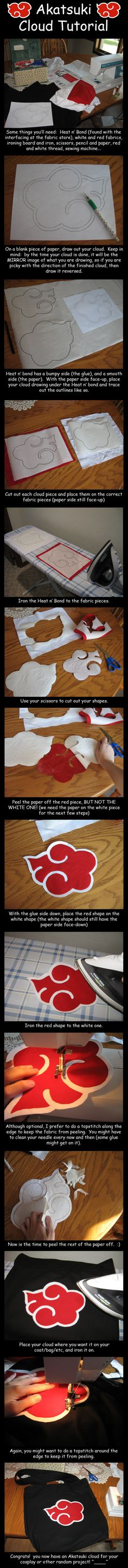 This is a tutorial made by Malindachan on Deviantart.com. As it's too time-consuming to make an Akatsuki costume, only a bag is made here. But the tutorial has shown us all crucial tips. Many thank…