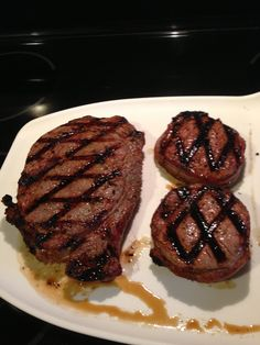 Steaks seared up nicely!