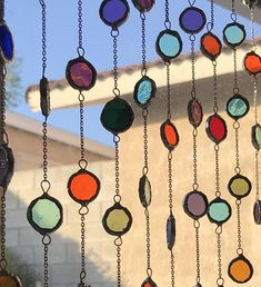 Your place to buy and sell all things handmade Stained Glass Projects, Stained Glass Art, Mosaic Glass, Hanging Stained Glass, Carillons Diy, Beaded Curtains, Aesthetic Room Decor, My New Room, Decoration