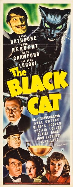 Classic Theatrical Poster - The Black Cat, 1941 - http://retrographik.com/classic-theatrical-poster-the-black-cat-1941/ - cat, classic, comedy, film, high resolution, horror, movie, Poster, theatrical, vintage