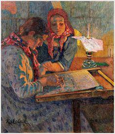 """Богданов-Бельский Николай Петрович (Россия, 1868-1945) «Работа» ~ Bogdanov-Belsky Nikolai Petrovich (Russia, 1868-1945) """"Work"""""""