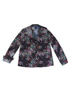 Camisa Feminina Em Viscose Estampada E Mangas Com Regulagem   Camisas   Feminino   Hering