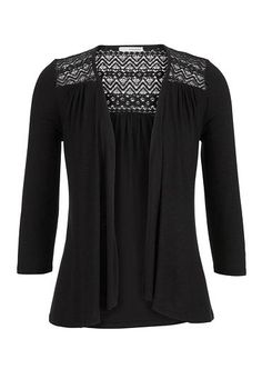 lace detail open front cardigan (original price, $29) available at #Maurices
