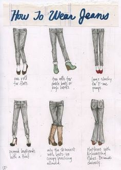 and now you know.... (jeans,shoes,cute,60% of the time it works everytime)