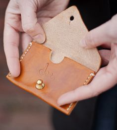 Leather Business Card Holder.