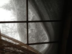 My Window Wonderland in my study of my antique home during the Blizzard of 2013