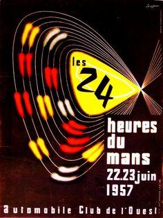 #lemans 1957 #poster