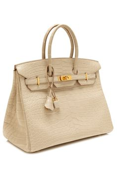 35Cm Matte Beton Alligator Hermes Birkin by Heritage Auctions Special Collection for Preorder on Moda Operandi