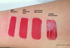 ANASTASIA BEVERLY HILLS Liquid Lipsticks- Part 3 [Coral, Red]