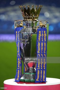 The Premier League trophy is seen ahead of the Premier League match between Everton and Liverpool at Goodison Park on December 19, 2016 in Liverpool, England. Football Tattoo, Liverpool Premier League, Priscilla Barnes, Ariadne Diaz, Real Madrid Team, Liverpool Fc Wallpaper, Goodison Park, Liverpool England, Cristiano Ronaldo Cr7