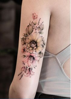 Celebrate the Beauty of Nature with these Inspirational Sunflower Tattoos - KickAss Things Tribal Sleeve Tattoos, Sleeve Tattoos For Women, Tattoo Sleeve Designs, Flower Tattoo Designs, Tattoo Designs For Women, Leg Tattoos, Sunflower Tattoo Sleeve, Flower Sleeve, Sunflower Tattoos