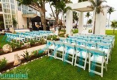 Azul Fives Weddings Tiffany blue wedding garden ceremony decorations