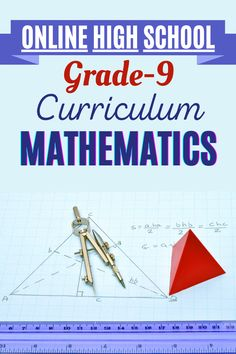 Students should have a demonstrable understanding of the concepts covered in Math before enrolling in High School Mathematics . School Routine For Teens, School Routines, In High School, Middle School, Online High School Courses, School Grades, School Essentials, School Organization, Teaching Tips