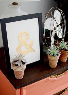 #diy gold ampersand art