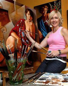 Claudio Bravo, Art Optical, Painting Studio, Art Deco Period, Australian Artists, Art Store, Figure Painting, Woman Painting, Photos Du