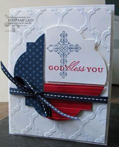 May 24, 2013 My Stamp Lady: Celebrating Memorial Day Weekend - Crosses of Hope, Window Framelits
