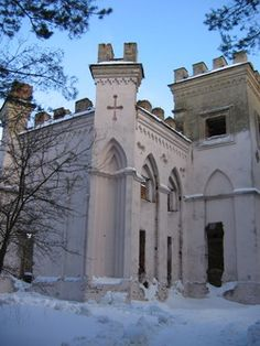 Belarus -The ruins of the castle of Kosava are referred to as a knight's dream… Castle House, Castle Ruins, Lithuania, Poland, Winter Snow Pictures, Places Around The World, Around The Worlds, Republic Of Belarus, Abandoned Churches