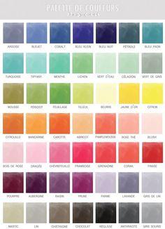 ideas for wedding colors palette pantone Colour Pallette, Color Combos, Color Schemes, Color Trends, Pantone, French Colors, Colour Board, Color Names, Color Palettes