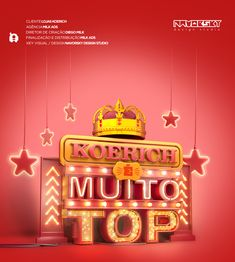 Koerich Top on Behance Ad Design, Layout Design, Logo Design, Graphic Design, 3d Type, Header Design, Adobe Illustrator Tutorials, 3d Typography, Social Media Design