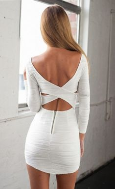 $29.99 Bodycon Dress with Cut out Back