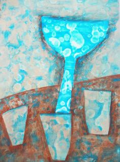 Abstract Images, Blue Abstract, Bath Paint, City Painting, Contemporary Artists, Printmaking, Still Life, Pop Art, Original Art