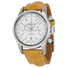 Breitling Transocean Automatic Silver Dial Camel Leather Unisex Watch A4131053-G757CMCT
