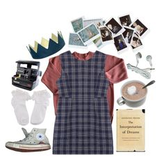 """""""curiosity"""" by stelthomas on Polyvore featuring Qilo, Converse, Polaroid and Nasty Gal"""