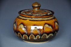 Tawny Sunset Handmade Sugar Bowl Ceramic Sugar by darshanpottery