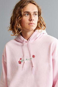 Slide View: 5: Power Of Rose Embroidered Hoodie Sweatshirt