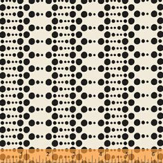 Hello Gorgeous Dots in Black from Melissa by LemonTreeFabrics