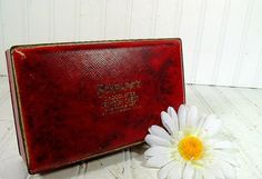 Vintage Schraffts Chocolates Crimson Chest  Large by DivineOrders, $22.00