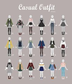=============================================================01:   02:  03:   04:&nbsp... (OPEN 5/18) CASUAL Outfit Adopts 37