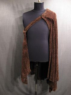 09039281 Cape, brown grey tweed chenille.JPG
