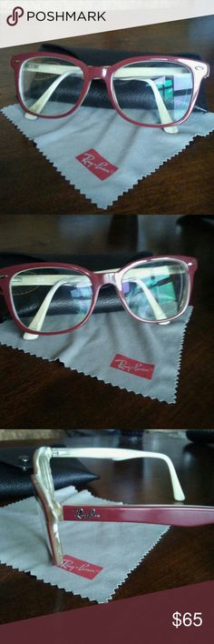 f04b8c8c04c Rayban prescription eyeglasses In lightly used condition. I don t know the  prescriptions on these. Model is my friends  13yr old daughter. h Ray-Ban  ...