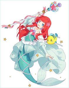 Magical girl ariel cute disney, disney girls, disney pixar, disney and dreamworks, Anime Disney Princess, Anime Princesse Disney, Disney Girls, Disney Anime Style, Disney E Dreamworks, Disney Pixar, Punk Disney, Disney Movies, Disney Characters
