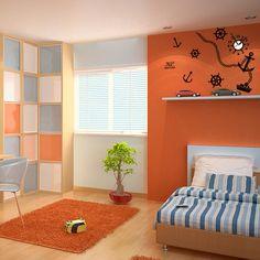 wallsticker ship Wallpaper interior Design