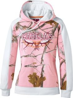 """I love hoodie sweatshirts for fall and winter. Cabela's sweatshirts are always warm enough on most days to wear without a jacket and full enough for a turtle neck underneath on colder days. I bought the lavender camoflage pattern. I love the pink and lavender tones rather than just drab green camoflage."""