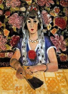 Henri Matisse ~ Espagnole harmoine bleue