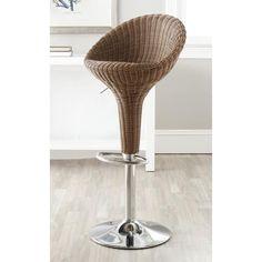 Safavieh Nordika Brown Adjustable 23-32-inch Swivel Bar Stool | Overstock.com Shopping - The Best Deals on Bar Stools