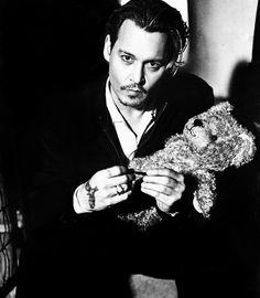 Johnny and a teddy bear