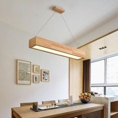 LED Wooden Pendant Light With Arcrylic Shade,Simple Modern Style Pendant Lamp For Living Room/Sittin - All About Decoration Wood Pendant Light, Led Pendant Lights, Pendant Lamps, Pendant Lighting, Brass Pendant, Lustre Design, Wooden Ceilings, Wood Ceiling Panels, Wooden Ceiling Design